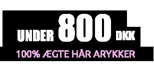 Under 1000 100% Ægte Hår Parykker